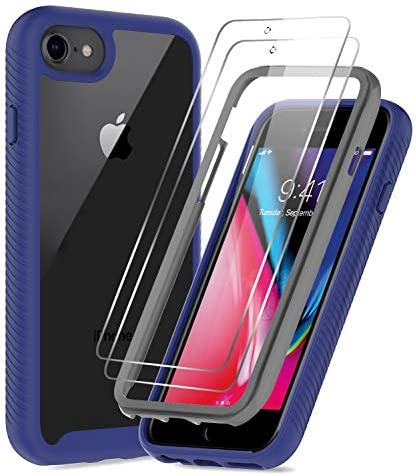 LeYi Compatible for iPhone SE 2020 Case iPhone 8 Case iPhone 7 6s 6 Case with Tempered Glass product image