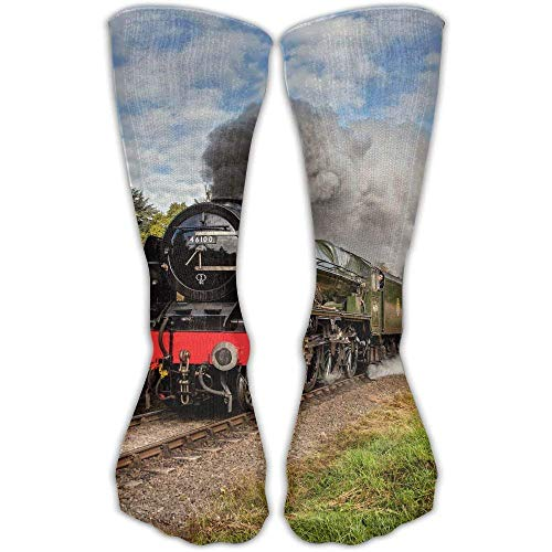 hdyefe Women's Men's Classics Socks Steam Train Scottish Borders Athletic Stockings 50CMcm Long Sock One Size