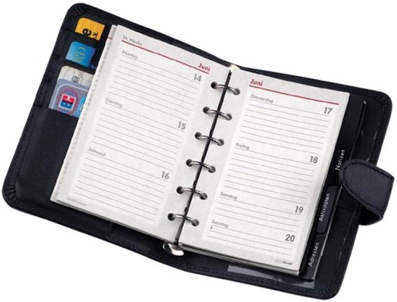 Zeitplaner Pocket Nappaleder A7, Echtes Leder schwarz Bsb B0007OEC26 | Smart