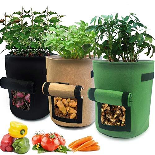 Nicheo 3 Piece 10 Gallon Grow Bag Set