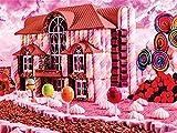 5D DIY diamante pintura completo redondo cuadrado dibujos animados paisaje bordado de diamantes venta caramelo casa mosaico telones de fondo