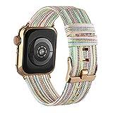 Goosehill für Apple Watch Armband Stoff, Gewebt Nylon Armband Kompatibel mit Apple Watch 6 5 4 3 2 1 SE (Bunt,38mm/40mm)