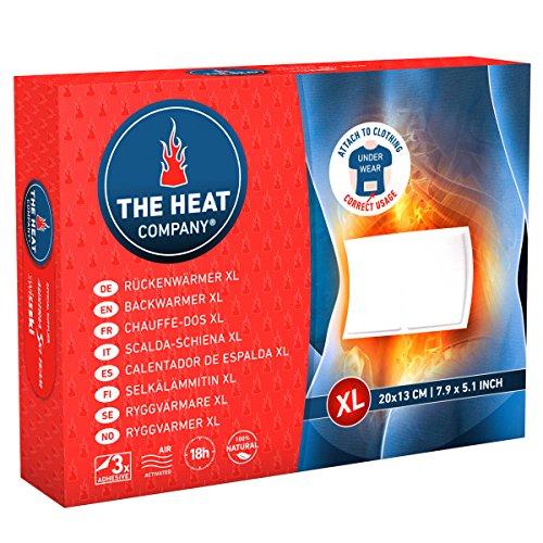THE HEAT COMPANY Calentador de Espalda XL - EXTRA CÁLIDO - adhesivo - Calentador Cuerpo XL - 18 horas de calor acogedor - calor instantáneo - activado por aire - puro natural - 3 piezas