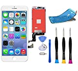 Premium Screen Replacement Compatible with iPhone 7 4.7 inch-3D Touch Digitizer Display Glass Assembly with Tools, Fit Compatible with iPhone 7 (White)
