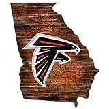 NFL Atlanta Falcons Unisex Atlanta Falcons Mini Roadmap State Sign, Team Color, 12 inch