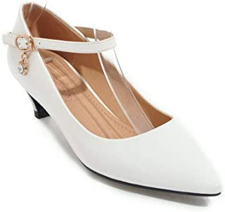 BalaMasa Womens Dance-Ballroom Burnished Travel Urethane Pumps Shoes APL10705