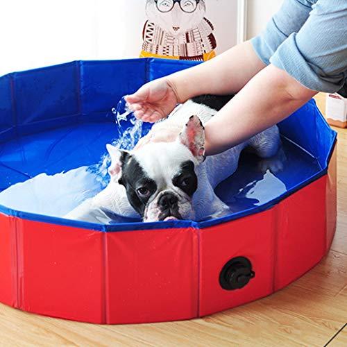 YAOYAN Hundeschwimmbecken, Durable faltbares Hundeschwimmbecken, Badewanne beweglicher Bade Hund/Katze Bad Tier im Freien Innen Anti-Rutsch-Pet Supplies Unterhaltung