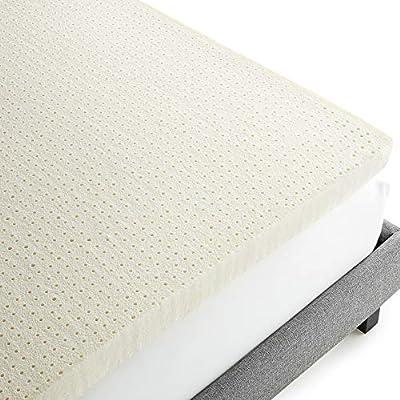 Whisper Organics 100% Natural Latex Mattress Topper - Medium Soft Back Support Foam - GOLS Certified, Organic Bed Toppers, 3-Inch Natural Mattress for All Kinds of Sleepers, King Size