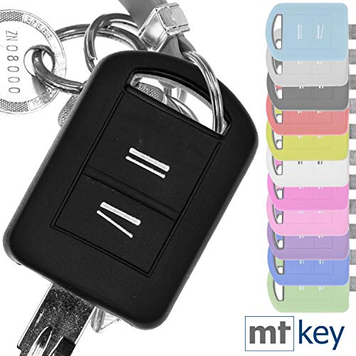 Soft Case Silikon Schutz Hülle Auto Schlüssel Schwarz kompatibel mit Opel Combo C Corsa C Meriva A Tigra TwinTop