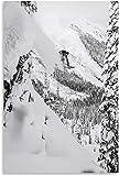 Diy 5d Diamante Pintura Kits Esquiador caminando por el acantilado y cuadro moderno Diamond Painting Completo Bordado Punto De Cruz Craft 15.7'x19.7'(40x50cm) Sin Marco