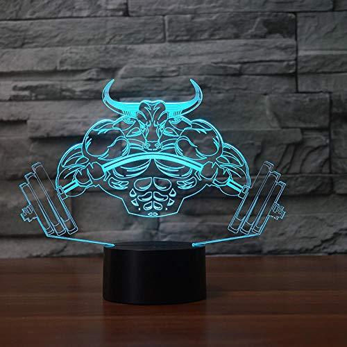 3D Led Nachtlicht,Muskel Monster, Wohnkultur Tischlampe Nachtansicht Dekoration Nachttischlampe Schlafzimmer Nachtlicht Optisches Licht Kindergeschenk.