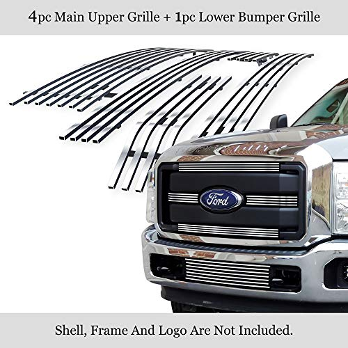 Compatible with 2011-2016 Ford F-250 F-350 Lariat King Ranch XLT Billet Grille...