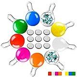 AFUNTA Collar de luces LED para perro, gato, 9 piezas de luces LED de seguridad para mascotas, 9 colores, incluye 9 pilas