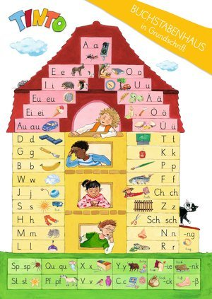 TINTO 1 und 2. Zu allen Neubearbeitungen. 1. Schuljahr. Buchstabenhaus in Grundschrift. Poster