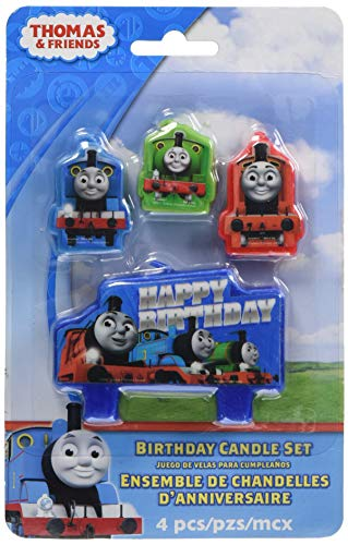 amscan 171752 Thomas All Aboard Birthday Candle, One Size, Multicolor