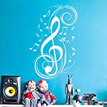 Music Notes Wall Decal Vinyl Music Wall Decal Music Note Wall Sticker Wall Mural Wall Graphic Room Art Decoration White