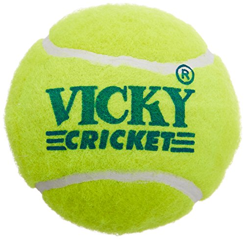 Vicky Tennis Cricket Ball, Pack of 6 (Yellow)