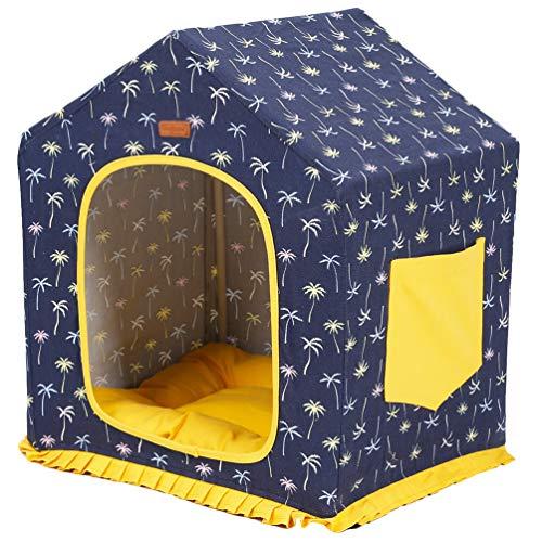 PengGengA Hundehütte, Abnehmbar und Waschbar Hundebett Katzenbett, Beständigkeit gegen Kratzer, Hundehöhle Katzenhaus Größe 37 * 45 * 51cm, 37 * 45 * 51cm