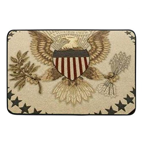 Presidential Seal Print Soft Doormat Indoor Rubber Mat Machine Washable Non-woven Fabric 23.6 x15.7 Inch