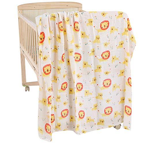 Winnfy Asciugamano con Cappuccio per Baby Shower Asciugamano con Cappuccio in Cotone per Neonato Asciugatura Rapida Accappatoio per Bambini Leone