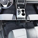 BDK M783 ProLiner Heavy Duty Rubber Black Car Floor Mats Liner for Auto - All Weather 3 Piece Set