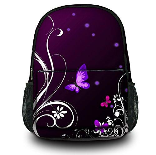 Zaino Sportivo Multifunzionale Luxburg Design , Motivo : Farfalle lilla