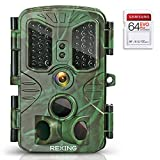 REXING H1 Blackhawk Night Vision Trail Camera Full HD 1920x1080,40 IR LED,120° PIR,  .2s Trigger Time, Photo Burst,Time Lapse,Loop recording,Password Enabled,IP54,SD card up to 128gb,Surveillance Cam