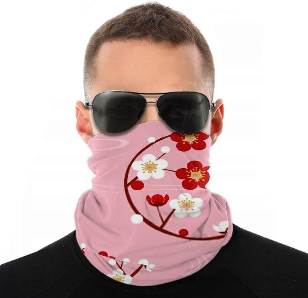 Headbands For Men Women Neck Gaiter, Face Mask, Headband, Scarf Circle Plum Blossom Turban Multi Scarf Double Sided Print Head Bandana For Women For Sport Outdoor