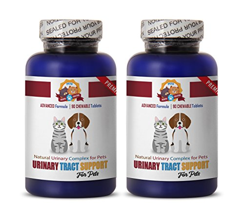PETS HEALTH SOLUTION dogs urinary support supplements - BEST URINARY TRACT SUPPORT - DOG AND CAT TREATS - NATURAL WAY - cranberry dog pills - 180 Treats (2 Bottle)