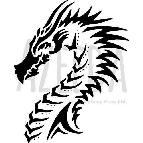 Azeeda A4 'Drachenkopf' Wandschablone / Vorlage (WS00009985)