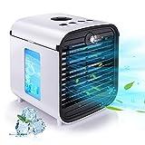 Mini Condizionatore Portatile,Hisome 4 IN 1 Personale Cooler Ventilatore Evaporativo Refri...