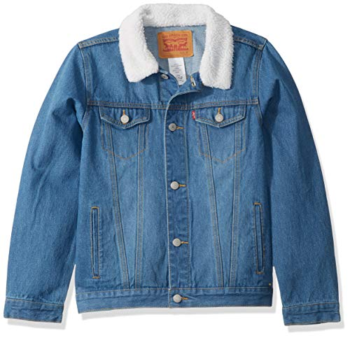 Levi's Boys' Big Denim Trucker Jacket, Legendary/Sherpa, S