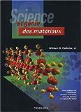 Science et génie des matériaux (1Cédérom)