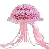 N-brand PULABO - Ramo de boda para novia, flores de marfil...