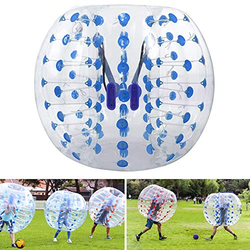 Triclicks Inflatable Bumper Bubble Soccer Ball Giant Human Hamster Ball for Adults and Teens, Diameter 4 ft / 5 ft (1.2m / 1.5m) Body Bubble Balls (Blue, 1.5M)