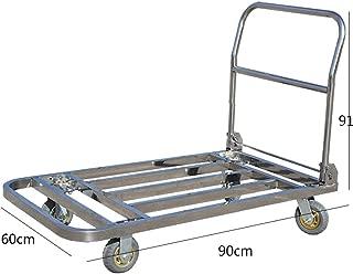 4つのゴム製足車、折りたたみ式押しカート用台車鋼、機能移動プラットフォームベッド、500kg / 1000ポンド容量、スライバと頑丈なポータブルプラットフォームトラック