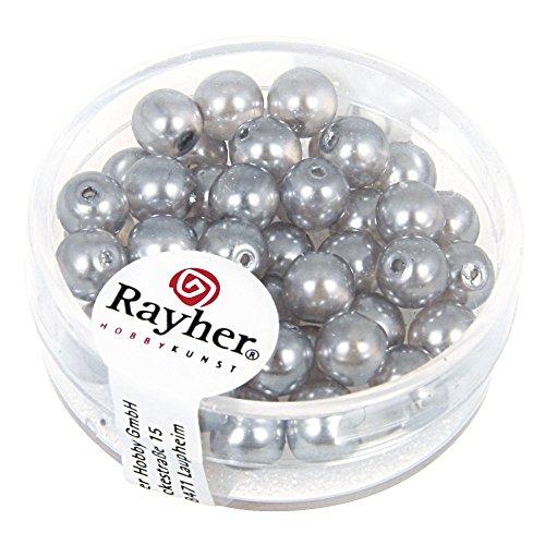 Rayher Hobby 14441561 – Renaissance Verre Perles de Cire, 6 mm, boîte 45 pièces,