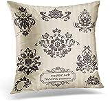 Kinhevao Dekokissen Victorian von dekorativen Damast-Illustrationen für Ihre Design-Grüße im...