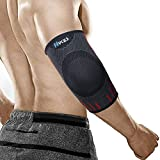 Hykes Elbow Support Compression Sleeve brace for pain relief Tendonitis Arthritis Sports badminton