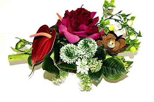 tatjana-land-deko Arrangement Seidenblumen Kunstblumengesteck künstliche Blumendekoration TD37-07