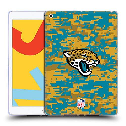 Official NFL Digital Camouflage 2018/19 Jacksonville Jaguars Soft Gel Case Compatible for Apple iPad 10.2 (2019)/(2020)