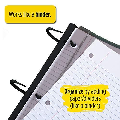 Five Star Flex NoteBinder, 1 Inch Binder, Customizable, Notebook and Binder All-in-One, Black (29326AA2) Photo #7
