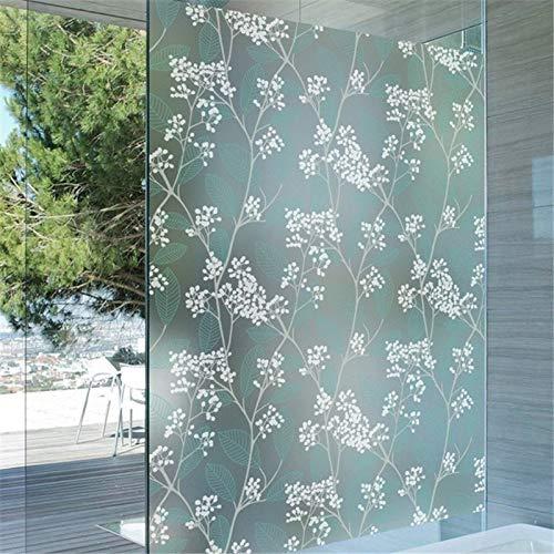 KUNHAN raamfolie raamsticker 45/60/*300cm ondoorzichtig zelfklevend mat privacyglas raamfolie decoratieve raamstickers plakken groene slaapkamer