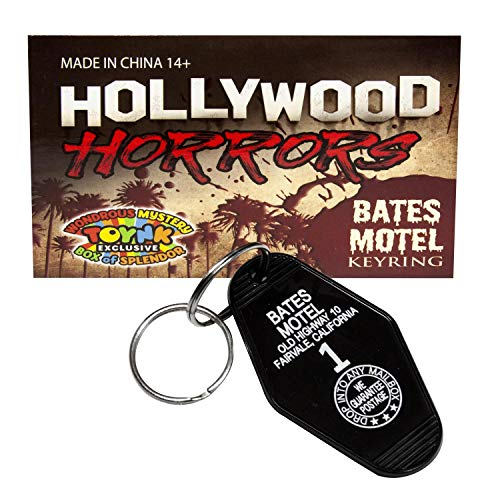 toynk Bates Motel Keychain | Key Tag from The Movie Psycho | Horror Movie Collectible