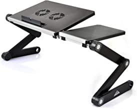 ARETE Laptop Desk/Stand/Table, Portable Folding Computer Table with CPU Cooling Fans and USB Cable, Adjustable Laptop Desk...