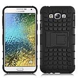 JAMMYLIZARD Outdoor Hülle für Samsung Galaxy E5 | Schutzhülle [Alligator] Doppelschutz Handyhülle Hardcase aus Polycarbonat & Silikon Backcover Lifeproof Hülle Cover, Schwarz