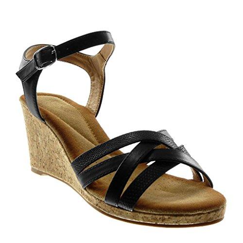 Angkorly - Zapatillas Moda Sandalias Mules Correa