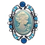 Soulbreezecollection Cameo Brooch Pin Charm Women Necklace Pendant Compatible Rhinestones Fashion Jewelry 6