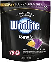 Woolite Darks Pacs, Laundry Detergent Pacs, 30 Count, for Standard and HE Washers, detergent for black clothes, black...