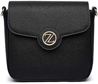 زينيف لندن حقيبة للنساء-اسود - حقائب طويلة تمر بالجسم